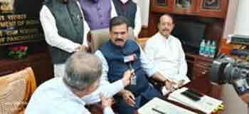 Kapil Moreshwar Patil takes the charge as Minister of State in the Ministry of Panchayati Raj.